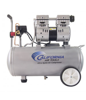 California Air Tools 8010 Ultra Quiet & Oil-Free 1.0 Hp, 8.0 Gal. Steel Tank Air Compressor
