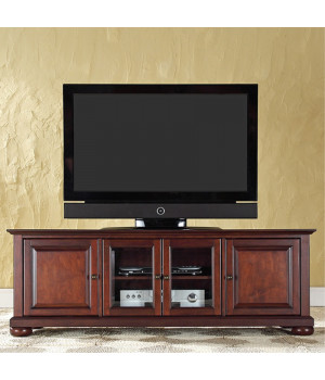 ALEXANDRIA+60%22+LOW+PROFILE+TV+STAND+IN+VINTAGE+MAHOGANY+FINISH