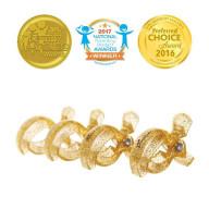 STROLLERBUDDY STROLLER CLIPS 4 PACK - GOLD GLITTER