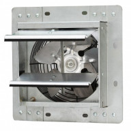 iLiving 7 Inch Variable Speed Shutter Exhaust Fan Crawl Space Ventilator, Wall-Mounted