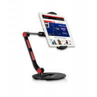 Ewin Adjustable Stand Holder for Tablet Mobile Device - Black/Red