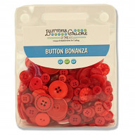 Buttons Galore Hand Dyed Buttons, Fire Engine Red