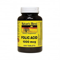 Nature's Blend Folic Acid 1000 mcg 1,000 mcg 1000 Tabs