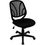 Y-GO Chair™ Mid-Back Black Mesh Swivel Task Chair - GO-WY-05-GG