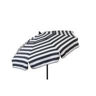 Italian 6 ft Umbrella Acrylic Stripes Black and White - Beach Pole