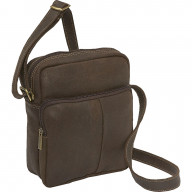 Leather Mens Day Bag - DS-1505-Choc