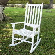 Traditional Rocking Chair, White