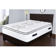 Spectra Orthopedic Mattress Premium 14.5 Inch plush gel & convoluted memory foam knife edge pillow-top pocketed coil mattress - Twin Size