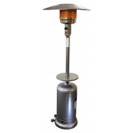Umbrella Patio Heater with Silver Hammered Finish