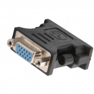 DVI Male (24+1 pin) to VGA Female (15-pin) Adapter, Nickel Plated