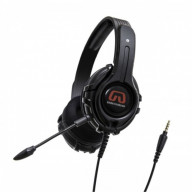 Cruiser PC200-I 2.0 Stereo Gaming Headset with Detachable Boom Microphone for PC, Black Color, Blister Pack