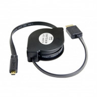 4-Feet Retractable HDMI Type A Male to Micro HDMI Type D Male Cable