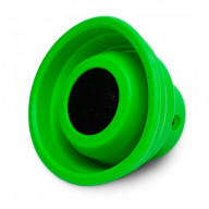 Bluetooth Speaker, V2.1+EDR, Dual Connections (BT or 3.5mm AUX Cable), Horn Shape Design by Silicon, Foldable and Portable Design, Green Color
