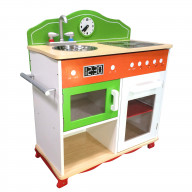 Teamson Kids - Little Chef Colmar Classic Play Kitchen - Green / Orange