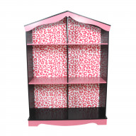 Teamson Kids - Fashion Leopard Prints Bookshelf - Pink / Black