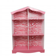 Teamson Kids - Fashion Zebra Prints Bookshelf - Pink / Whhite