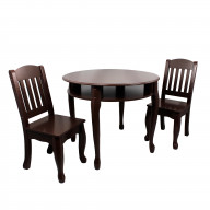 Teamson Kids - Windsor Table & Chair Set - Espresso - 35.89lb