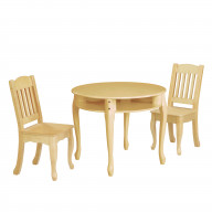 Teamson Kids - Windsor Table & Chair Set - Natural