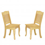 Teamson Kids - Windsor Chair set - 2pcs - Natural