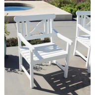 V1341 Bradley Outdoor Wood Armchair