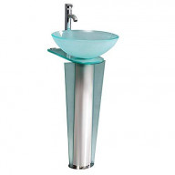 Fresca Vitale Modern Glass Bathroom Pedistal