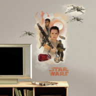 Star Wars The Force Awakens Ep Vii Hero Burst P&S Giant Wall Decal
