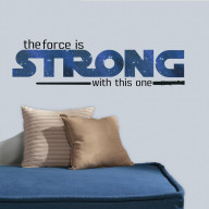 Star Wars Classic The Force Is Strong P&S Wall Decals