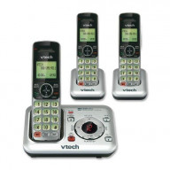 Dect 6.0 Expandable Three Handset Cordless Answering System, Silver/Black