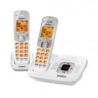 Dect6.0 Cordless Answering Speakerphone With Call-Waiting Caller Id, 2-Handset Bundle - White
