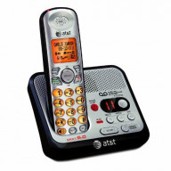 Dect6.0 Digital Cordless Answering System, Silver/Black