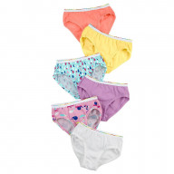 Hanes Tagless Toddler Girls' Cotton Briefs 6-Pack