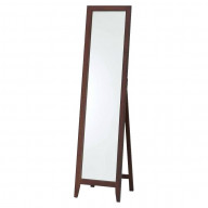 Pilaster Designs - Walnut Finish Solid Wood Frame Floor Mirror