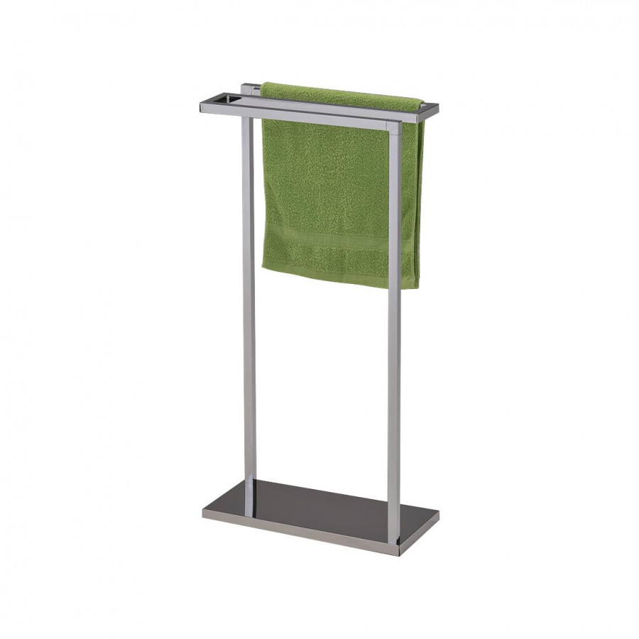 Pilaster Designs Chrome Finish Metal Free Standing Towel Rack Stand
