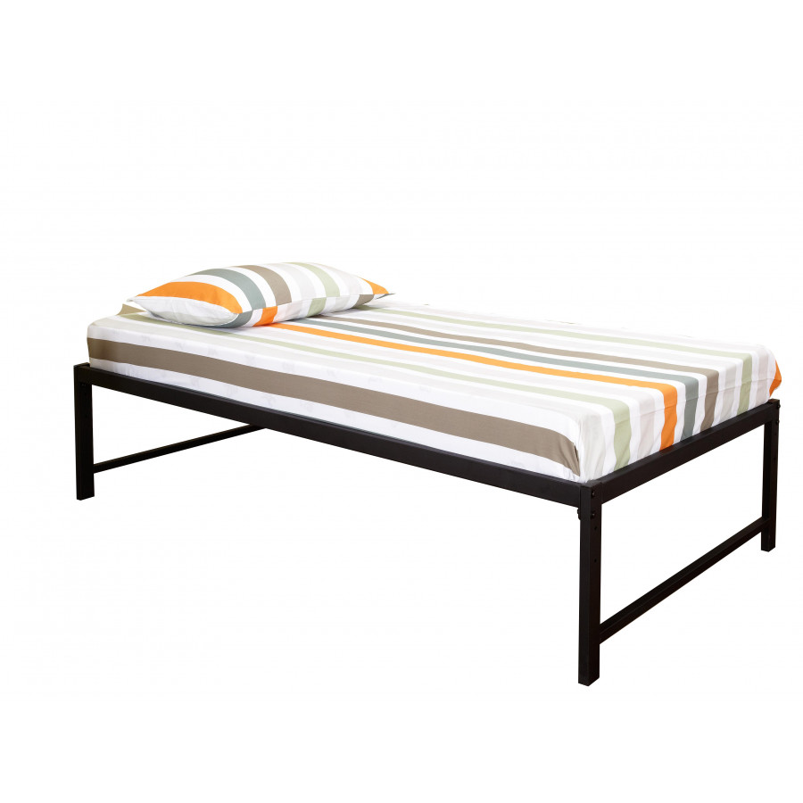 Pilaster designs black metal twin size day bed daybed for Black twin bed frame