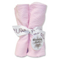Bouquet 4 Pack Burp - Gingham Seersucker Pink