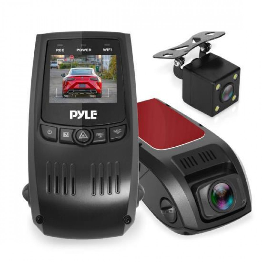 Dual Camera DVR Kit - Vehicle Dash Camera Recording System with Full HD 1080p