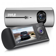 HD Vehicle Dash Cam - Dual Camera DVR Video Recording System with GPS Navigation Logger