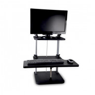 Siting/Standing Adjustable Workstation - Universal Computer/Laptop Desk Stand (2 Adjustable Shelf Trays)