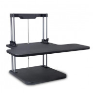 Siting/Standing Adjustable Workstation - Universal Computer/Laptop Desk Stand (1 Adjustable Shelf Tray)