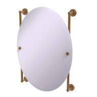 Dottingham Collection Oval Frameless Rail Mounted Mirror - DT-27-91-BBR