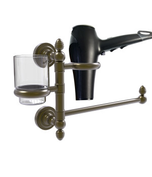 Dottingham Collection Hair Dryer Holder and Organizer - DT-GTBD-1-ABR