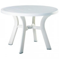 Truva Resin Round Dining Table 42 inch White