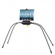 UNIVERSAL LAZY SPIDER MOUNT FOR PHONE AND TABLET STAND ON ANY EVEN OR UNEVEN SURFACES, BED, SOFA, TABLE, COUNTERTOP WITH ADJUSTABLE LEGS-HOCU-43-BK