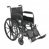 Silver Sport 2 Wheelchair, Non Removable Fixed Arms, Elevating Leg Rests, 18