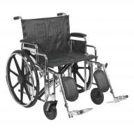 Sentra Extra Heavy Duty Wheelchair, Detachable Desk Arms, Elevating Leg Rests, 24