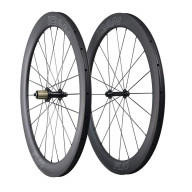 ICAN Aero Carbon Road Bike Wheelset 55mm Deep 25mm Wide Clincher Tubeless Ready 1605g