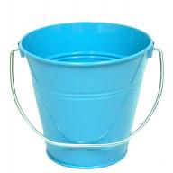 Italia Metal Bucket party favor Turquoise 7.5 x 7.5