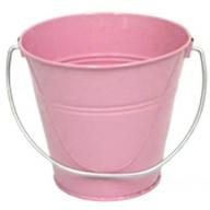 Italia Metal Bucket party favor Pink 5.6 X 6