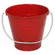 Italia Metal Bucket party favor Red 5.6 X 6