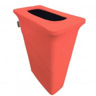 LA Linen Stretch Spandex Trash Can cover for Slim Jim 23-Gallon, Coral
